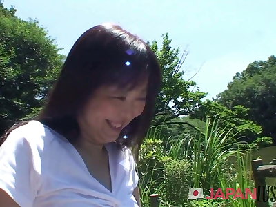 Japanese MILF Loves Being Naughty Readily obtainable The Park