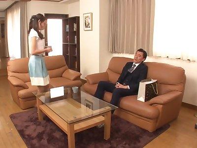 Best Japanese model Rei Nakazawa in Fabulous blowjob, couple JAV video