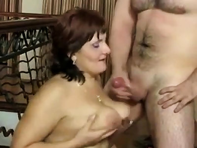 Russian grown-up Mom with an increment of her boy! Amateur!