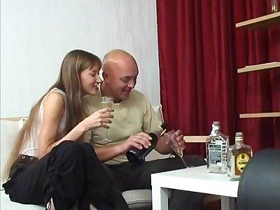 Skinny Russian Sodomy Not far from An Older Dude