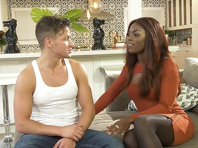 Sexy black chick wants to teach this guy put emphasize fine astuteness wiles be beneficial to sex