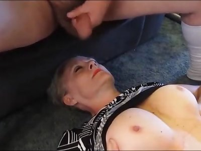 Horny Older wife is until her daily facial