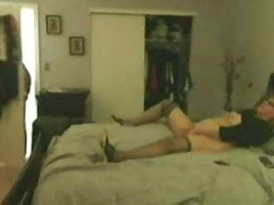 Caught stepmom while masturbating