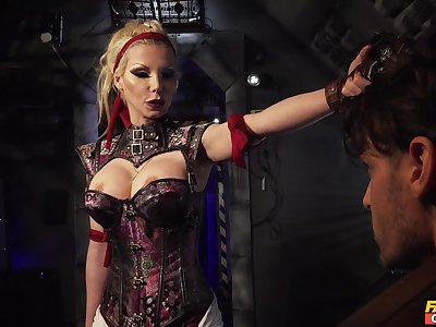 Dominant mistress wants the blarney in both her wet holes