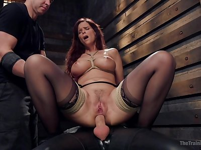 Busty mature ass fucked while effectuation fully submissive