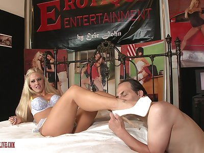 Blonde porn catholic strips leafless to shag with an older man