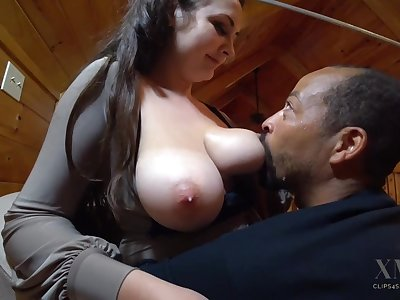 Hot breastfeeding - Big white tits beside interracial milking amulet