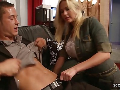 Big Bouncing Tits Nympho Craftswoman Seduce to Fuck at Work